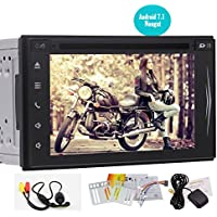 Free Backup Camera!! Latest Android 7.1 Double Din Octa Core Car Stereo 6.2 In Dash Car DVD CD Player GPS Navigation with Bluetooth Wifi Auto Radio FM/AM Receiver Support Subwoofer Video out