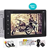 Free Backup Camera!! Latest Android 7.1 Double Din Octa Core Car Stereo 6.2'' In Dash Car DVD CD Player GPS Navigation with Bluetooth Wifi Auto Radio FM/AM Receiver Support Subwoofer Video out
