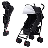 Costzon Umbrella Stroller Lightweight Baby Toddler Pushchair Travel Jogger w/Storage Basket (Black)