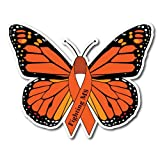 Fighting MS Butterfly Multiple Sclerosis Awareness Sticker