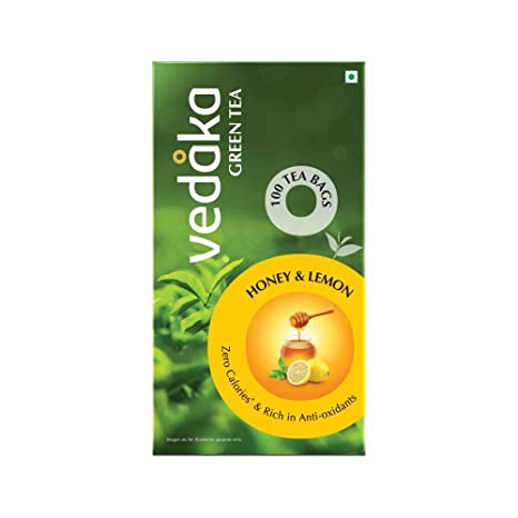 Amazon Brand � Vedaka Green Tea, Lemon and Honey, 100 Bags
