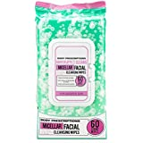 Body Prescriptions Makeup Removing Facial Wipes, Micellar Water Infused, Detoxifying + Moisturizing Deep Cleansing Face Towelettes, Refreshing + Nourishing, Makeup Removing Cleansing Cloths (60 Wipes)