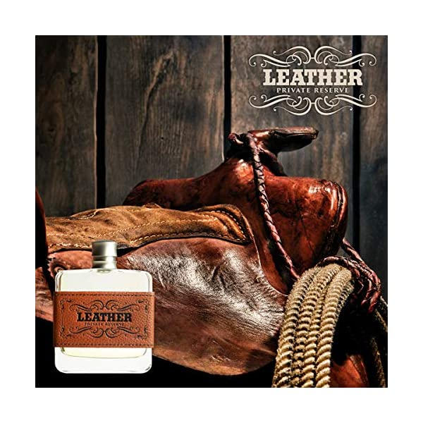 Leather Private Reserve Men's Cologne by Tru Western, A Masculine, Woody, and Earthy Scent - 3.4 oz 100 mL