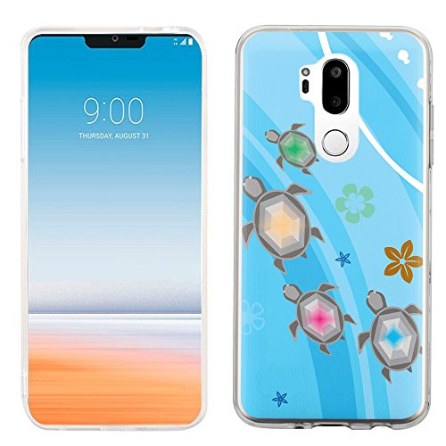 Slim-Fit Case for LG G7 ThinQ, One Tough Shield Scratch-Resistant TPU Protective Phone Case - Happy Turtle