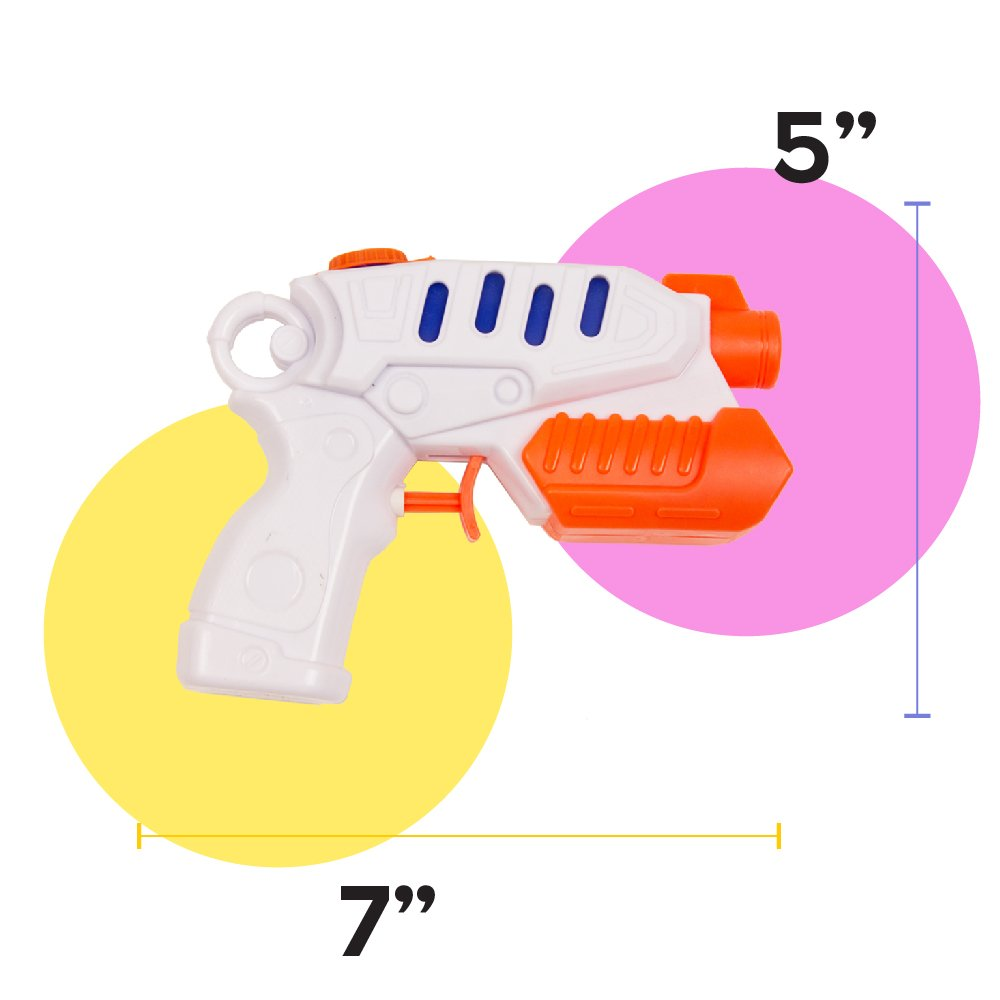 Boley Toys Water Gun Bulk Party Pack Perfect as Pool Favors Summer Play! 18 Pack Squirt Guns//Blasters//Pistols Kids//Adults