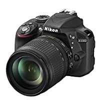 Nikon D3300 Kit Fotocamera Reflex Digitale con Nikkor 18/105 VR, 24.2 Megapixel, LCD 3, SD 8 GB 200x Premium Lexar, Nero [Nital card: 4 anni di garanzia]