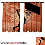 Best Div X Players - Basketball Outdoor Ultraviolet Protective Curtains Basketball Player Silhouette Review