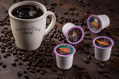 Manhattan Roast Variety Pack of 4 Signature Blends 'Empire Blend 'Times Brew 'Liberty Brew 'Chrysler Brew' Single-Serve Coffee Freshcup works in most Keurig KCup Brewers, 90 Count Box