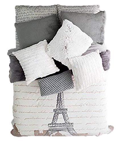 新しいPrettyコレクションエッフェル塔Teensボーイズ/ガールズPlush Blanket Very Softy厚暖かい、クイーンXLサイズ B073TMVLRT