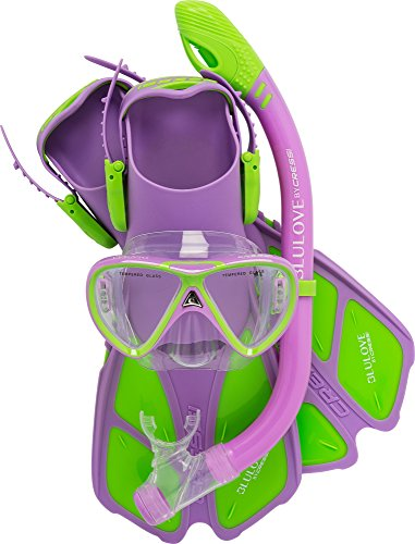 Cressi Youth Junior Snorkeling Set KIS Aged 7 to 15 - Lightweight Colorful Equipment Mini BONETE Quality Since 1946