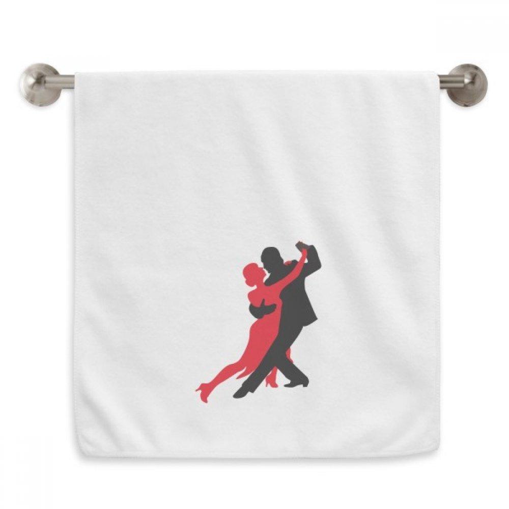 DIYthinker Dancer Social Dancing Duet Dance Circlet White Towels Soft Towel Washcloth 13x29 Inch