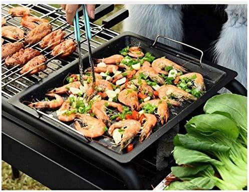 Barbecue HZY Grill Portable for pelouse Pique-Nique Backyard Balcon, Cuisine de Plein air avec des Roues, thermomètre, Cendrier, l'air de Sortie 103 * 56 * 82