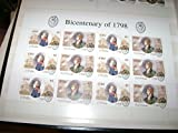 Bicentenary of 1798 Stamp Sheet (Irish Post) 11 Stamps