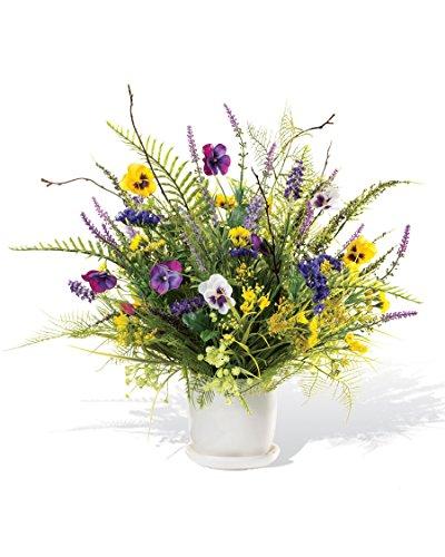 PETALS Pansy & Wildflower Silk Flower Centerpiece