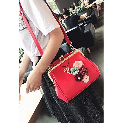 Satchel Appliques Pt11 Chains Minimalist Kiss Crossbag Shoulder Abuyall Diamonds Ladies Purse Pu Leather Handbag Totes Bag Lock Bag Retro Uvwaxqg