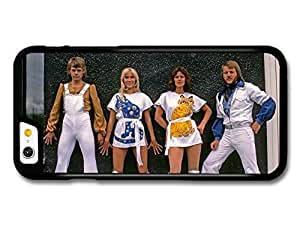 AMAF ? Accessories Abba Wall Portrait Blue and Yellow Cats Agnetha Faltskog case for iPhone 6