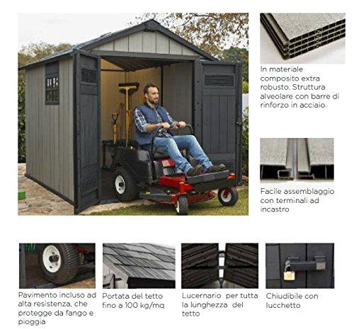 Caseta de jardín Oakland 7,5 x 7 keter: Amazon.es: Bricolaje y herramientas