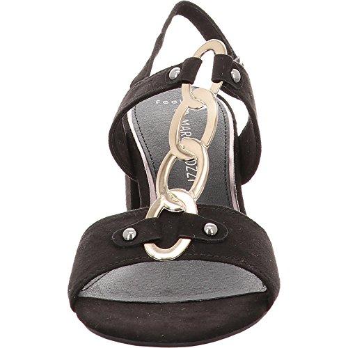 Marco Tozzi 28312 Women's Heeled Sandal Black pT0UsaO