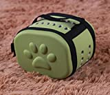Small Animals Outdoor Carrier Cage Foldable Travel Bag Bed Kennel for Hamster Rat Dwarf Squirrel Ferrets Chinchilla hedgehog (green)