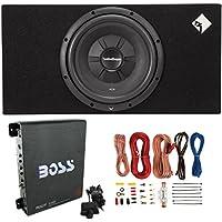 Rockford Fosgate R2S-1X12 12 500W Subwoofer + Enclosure + 1100W Amp + Amp Kit