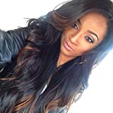 HonorHair Brazilian Body Wave Virgin Hair Glueless Full Lace Front Human Hair Wigs Ombre Human Hair Lace Front Wig For Black/White Women