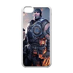 Gears of War 3 Soldados Caras Pistola Fuego Marcus Fenix ??Anya Stroud 21,123 iPhone 5C caja del teléfono celular funda blanca del teléfono celular Funda Cubierta EEECBCAAJ72261