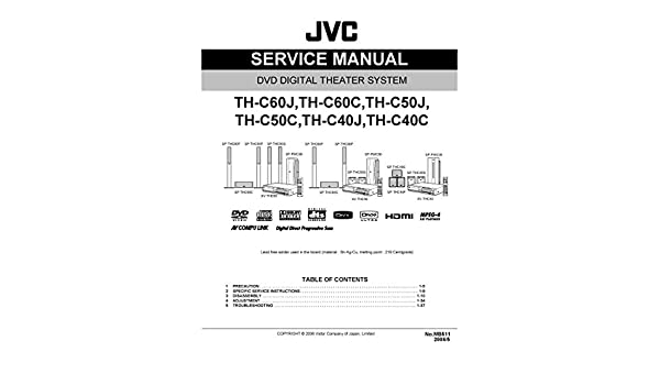 JVC THC60 - THC60C - THC50J - THC50C - THC40J - THC40C SERVICE MANUAL Paperback – 2006