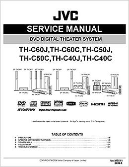JVC THC60 - THC60C - THC50J - THC50C - THC40J - THC40C SERVICE MANUAL: JVC: Amazon.com: Books
