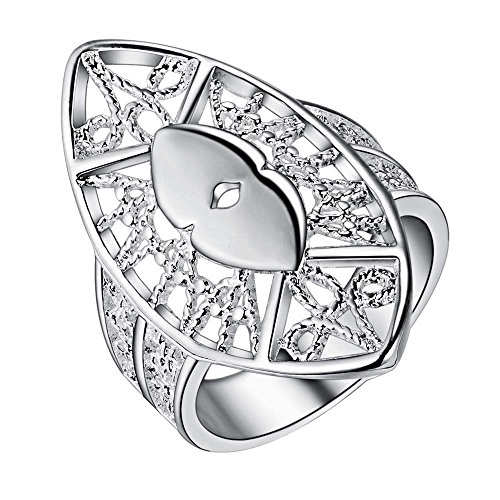 Halo Custom Armor Costumes (OUBEY Armor Personality 925 Jewelry Silver Plated Ring Fashion Jewelry Ring For Women)