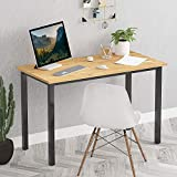 Rhilon Computer Desk 47'' Standard Office Desk Computer Table Study Writing Desk Workstation,Wood+Black Leg