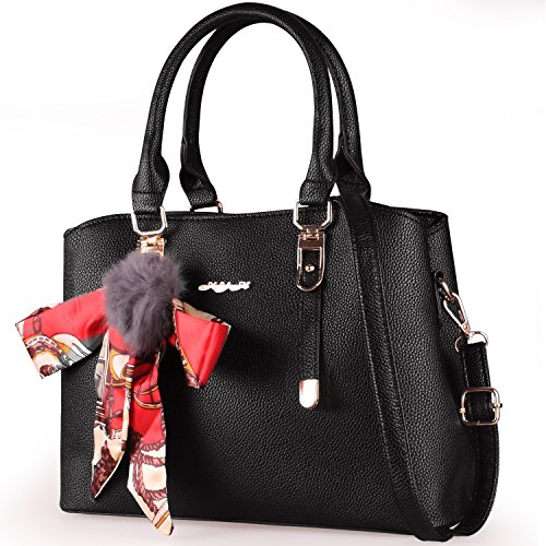 XYH Women Handbags Shoulder Bags Tote PU Leather Women's Handbag Large Capacity (Multi Compartment Shoulder Tote)