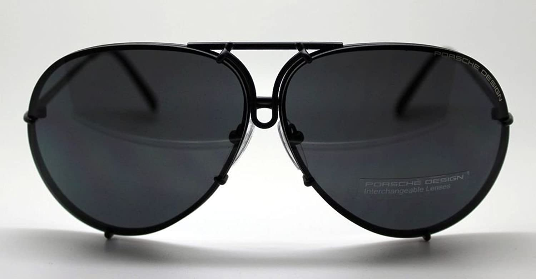 5912229a42db Amazon.com  PORSCHE DESIGN P8478 D Aviator Sunglasses Black Matte Frame  Size 69 + Extra Lens  Jewelry