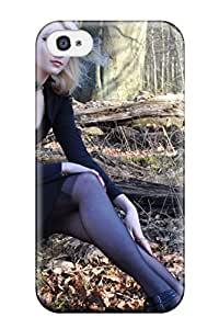 High-end Case Cover Protector For Iphone 4/4s(gothic Maria Blonde Goth Black Chick Forest People Women)