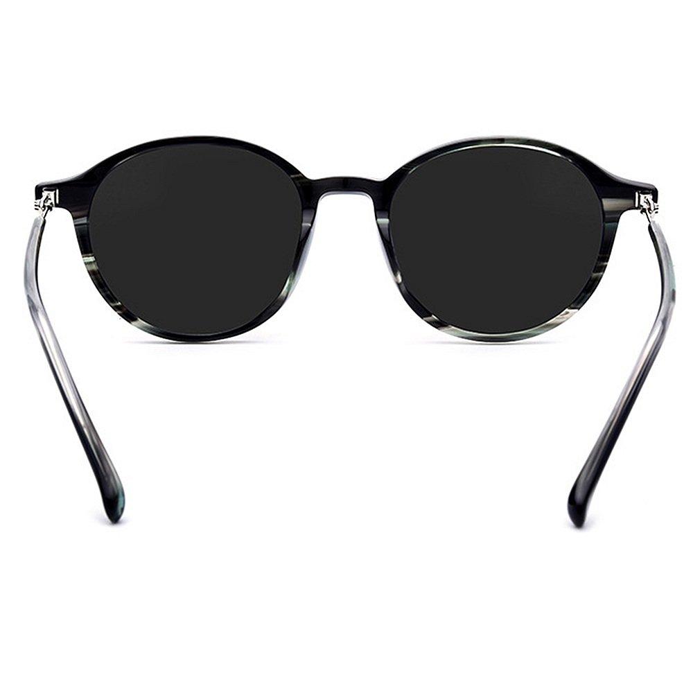 Estilo Retro Elegante Unisex Personalidad Pequeñas Gafas de Sol Redondas  Mujeres Marco de Flor de Fibra Acetizada Lente Polarizada Protección UV  Conducción ... d4b5d95673