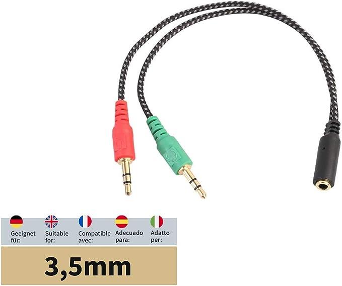 Adapter Kabel Für 3 5mm Buchse Für Den Anschluss Am Pc Elektronik