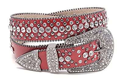 Western Crystal and Stud Cowgirl Belt