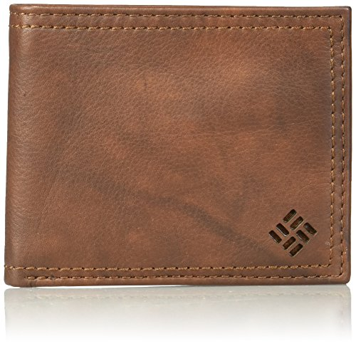 Columbia Men's 100% Leather Extra Capacity Slimfold Wallet