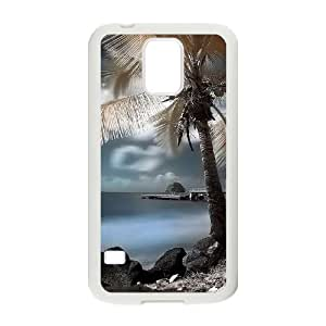 Coconut tree Personalized Cover Case with Hard Shell Protection for SamSung Galaxy S5 I9600 Case lxa#487785 by runtopwell