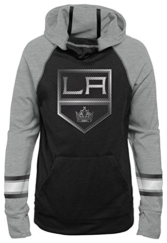 NHL Los Angeles Kings Youth Girls Female Forward Funnel Neck Hoodie, X-Large(16), ()