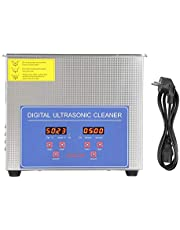 Akozon Ultrasonic Cleaner, Digital Ultra Sonic Cleaner Bath Timer Stainless Tank Cleaning 3L Jewelry Cleaner(Eu Plug 220V)