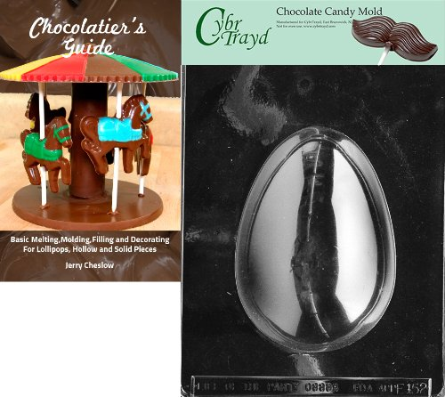 """Cybrtrayd""""1-Pound Egg"""" Easter Chocolate Candy Mold with Choc"""