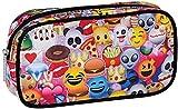 iscream 'Emoji Collage' 8.5'' x 4.5'' Bold Print Zippered Cosmetic Bag