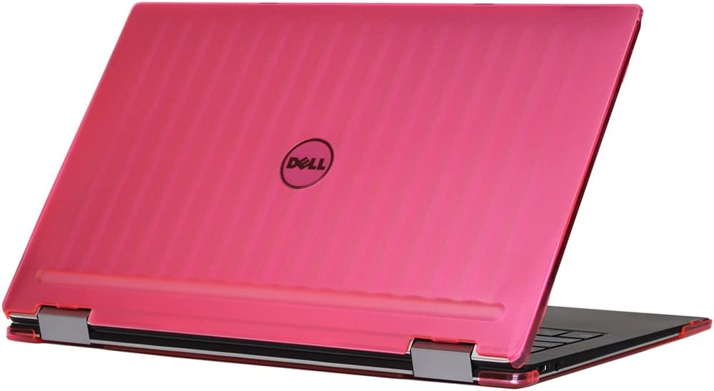 "mCover iPearl Hard Shell Case for 13.3"" Dell XPS 13 9365 2-in-1 Models (not Fitting Non 2-in-1 XPS 13 Models) Convertible Laptop 2-in-1 9365 - Pink"