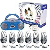 HamiltonBuhl HECWNCCD3856SV Basic Cassette/CD/AM-FM Listening Center 6 stations (Pack of 1)