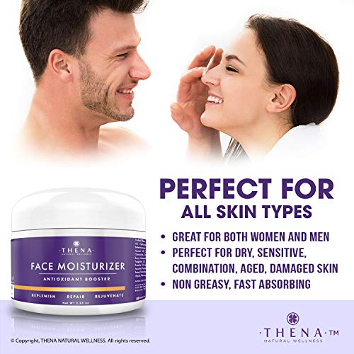 51Q8t5HY4WL - Anti Aging Face Moisturizer Cream For Dry Sensitive Skin, Organic Natural Facial Cream Anti Wrinkle Hyaluronic Acid Retinol Vitamin C, Face Lotion Eye & Face Care Skin Care Products Women Men