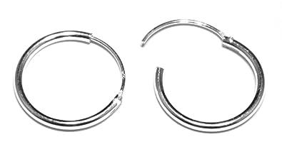 Orecchini anello uomo argento