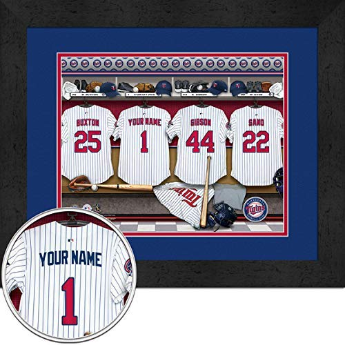 Locker Room Personalized Jersey Officially Licensed MLB Sports Photo 11 x 14 Print ()