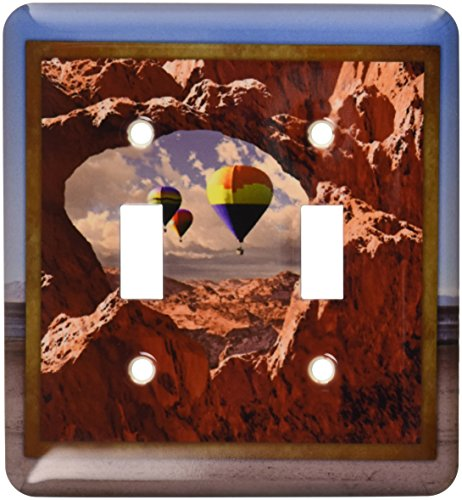 3dRose LLC lsp_41300_2 Hot Air Balloons in The Southwest, Double Toggle Switch