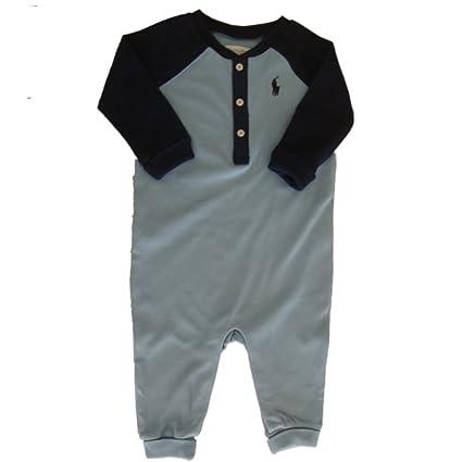 Ralph Lauren Polo Pelele de bebé Niños Henley azul recién nacido 0 – 3