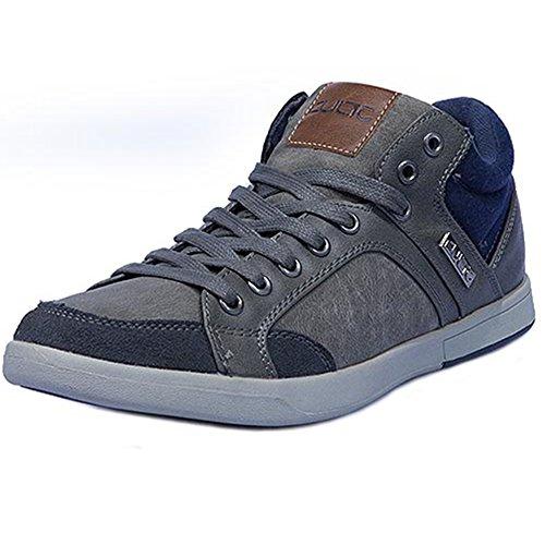 Cultz Sportliche Herren Low Sneakers Bequeme Elegante Skater Freizeit Schuhe Grau